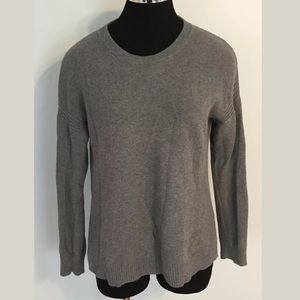 J.Crew Gray Ribbed Crewneck Sweater Women's S